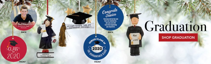 Personalized Graduation Christmas Ornaments