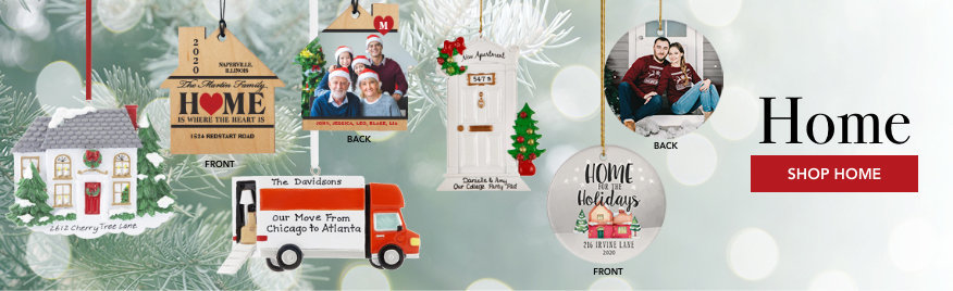 Personalized new home Christmas ornaments