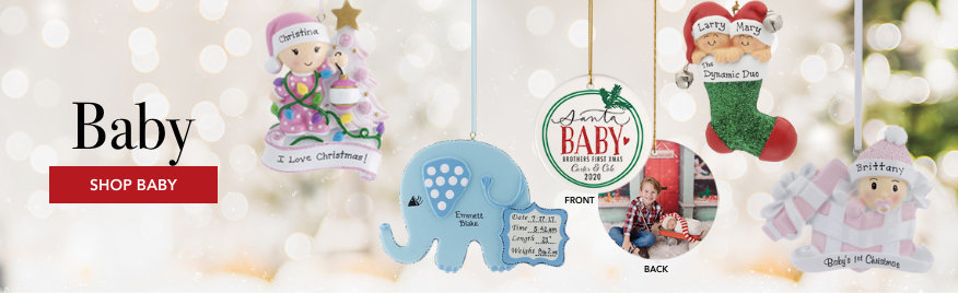 Personalized Baby Christmas Ornaments