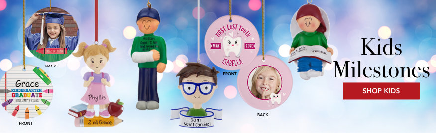 Personalized Kids Milestone Christmas Ornaments