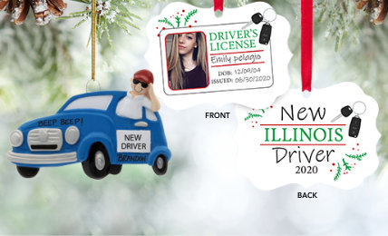 Personalized New Driver Christmas Ornaments