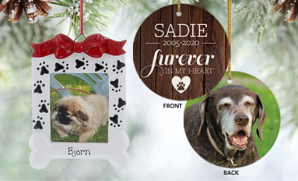 Personalized Pet Memorial Christmas Ornaments