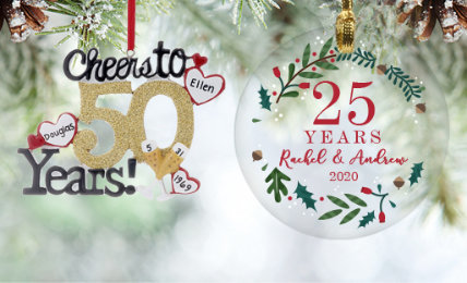 Personalized Anniversary Ornaments