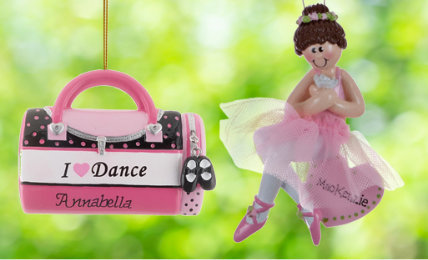 Personalized dance Christmas ornaments