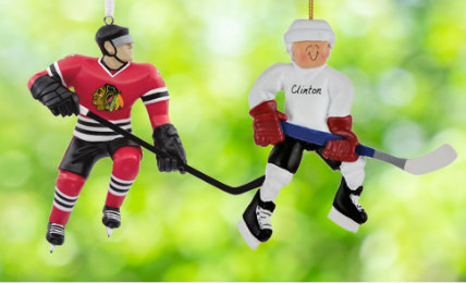 Personalized Hockey Christmas Ornaments