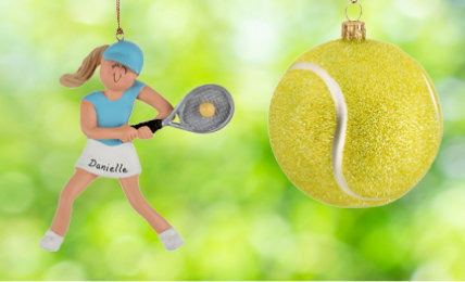 Personalized Tennis Christmas Ornaments