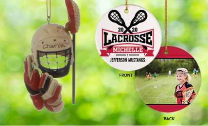 Personalized Lacrosse Christmas Ornaments