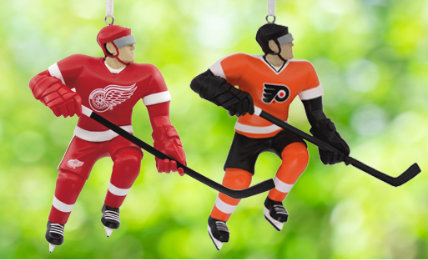 Personalized NHL Christmas Ornaments