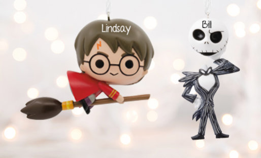 Personalized Tv & Movie Christmas ornaments