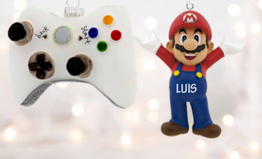 Personalized Gaming Christmas ornaments