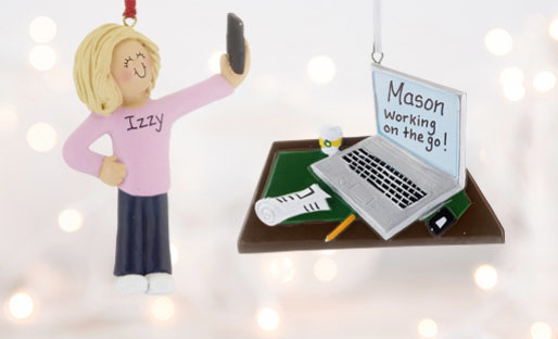 Personalized Science & Technology Christmas Ornaments