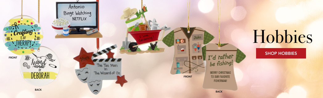 Personalized Hobby Christmas ornaments