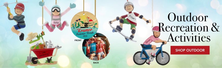 Personalized Outdoor Recreation & Activities Christmas Ornaments