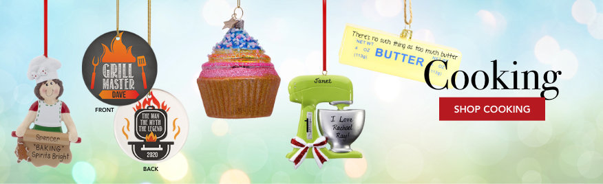 Personalized Cooking Christmas Ornaments