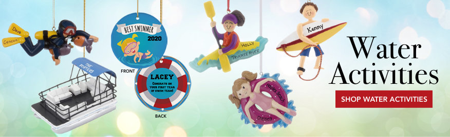 Personalized Water Christmas Ornaments