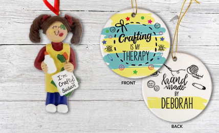 Personalized Crafting Christmas Ornaments