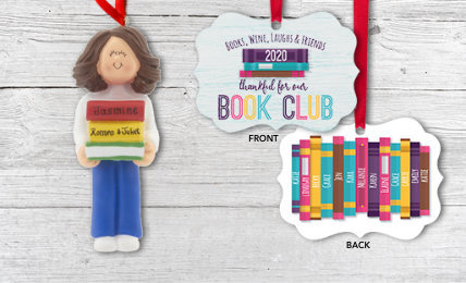 Personalized Reading Christmas Ornaments