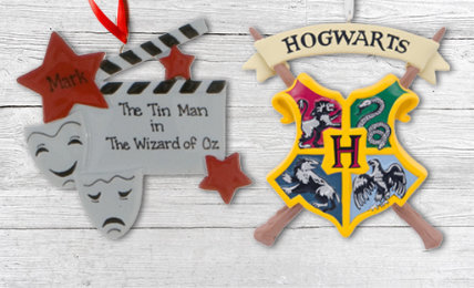Personalized Movies & theatre Christmas Ornaments
