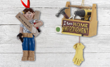 Personalized Mr. fix it Christmas Ornaments