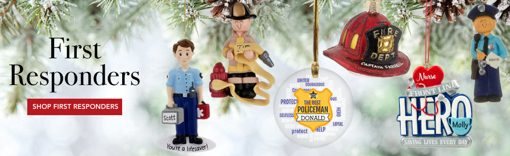 Personalized First Responders & Public Service Ornaments