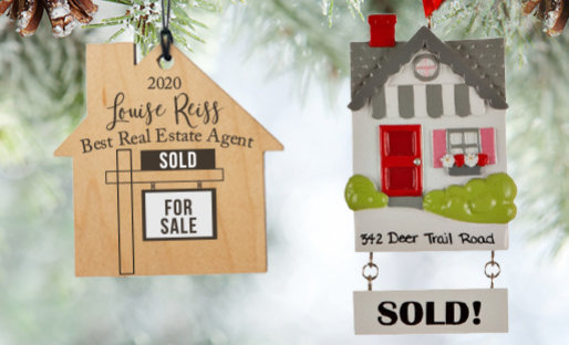 Personalized Real Estate Christmas Ornaments
