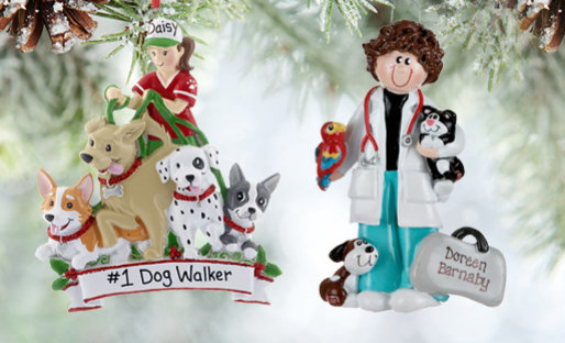 Personalized Animal Care Christmas Ornaments