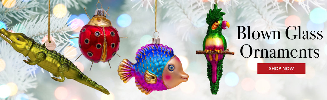 Personalized Glass Blown Pet Christmas Ornaments