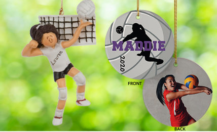 Personalized Volleyball Christmas Ornaments