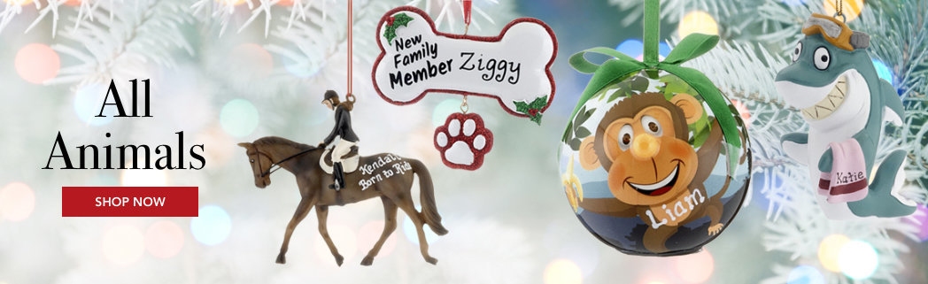 Personalized Animals Christmas Ornaments