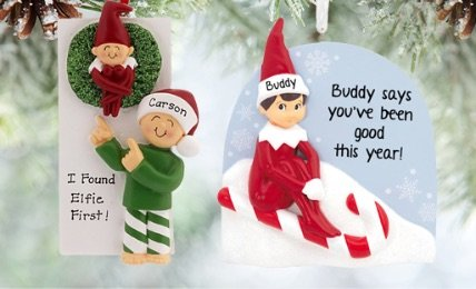 Personalized Elf Christmas Ornaments