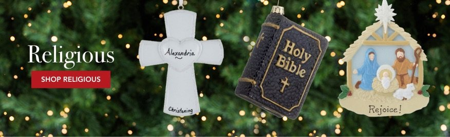 Personalized Religious Christmas Ornaments