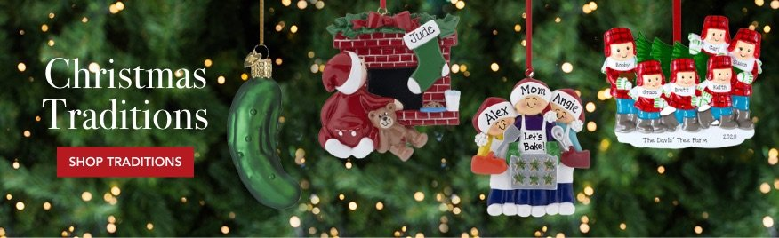 Personalized Christmas Tradition Ornaments