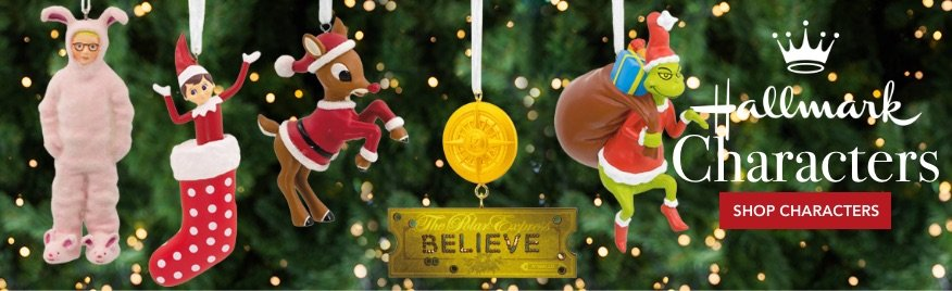 Personalized Hallmark Character Christmas Ornaments