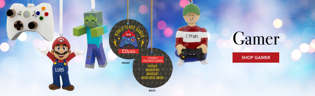 Personalized Gamer themed Ornaments