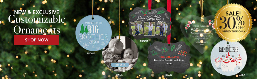 Personalized Custom Family Ornaments