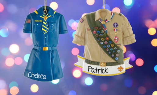Personalized Scouting Christmas Ornaments