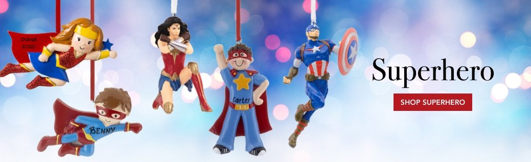 Personalized SuperHero Ornaments