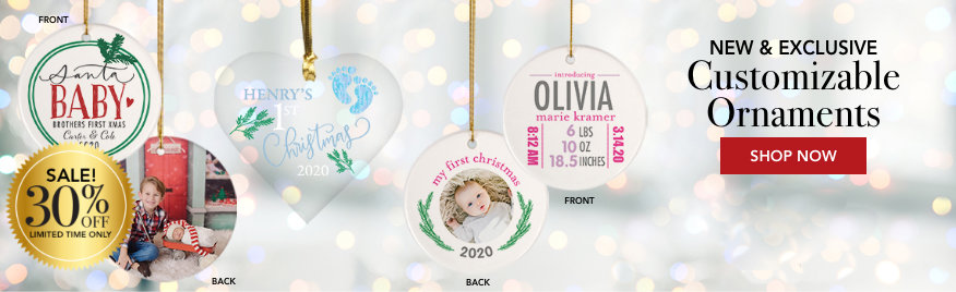 Personalized Custom Baby Christmas Ornaments