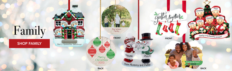 Personalized Family Christmas Ornaments