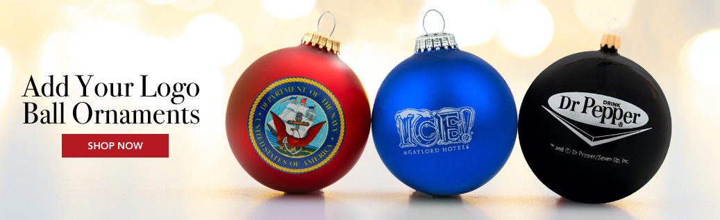 Personalized Add Your Logo Ball Ornaments
