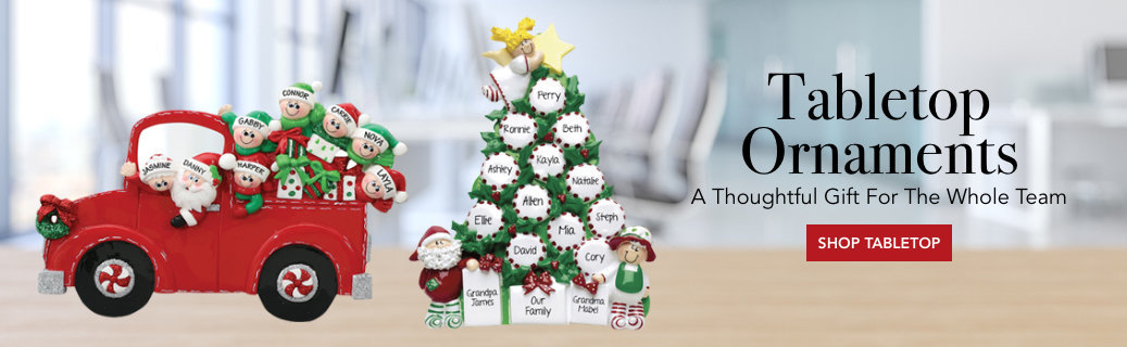 Personalized Tabletop Christmas Ornaments