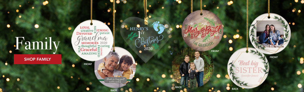 Customizable Family Christmas Ornaments
