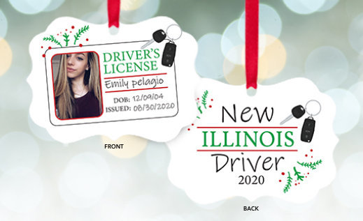 Customizable New Driver Christmas Ornaments