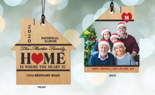 Customizable New Home Christmas Ornaments