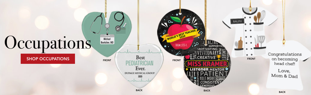 Customizable Occupation Christmas Ornaments