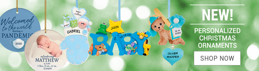 Personalized Baby Boy Christmas Ornaments