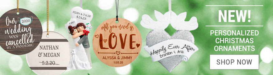 Personalized Wedding Christmas Ornaments