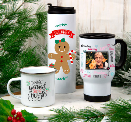 Personalized Holiday Drinkware
