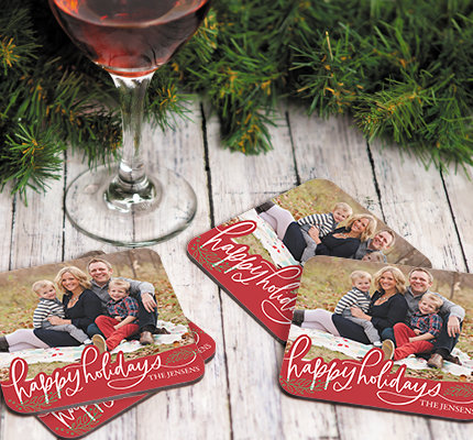 Personalized Holiday Coasters