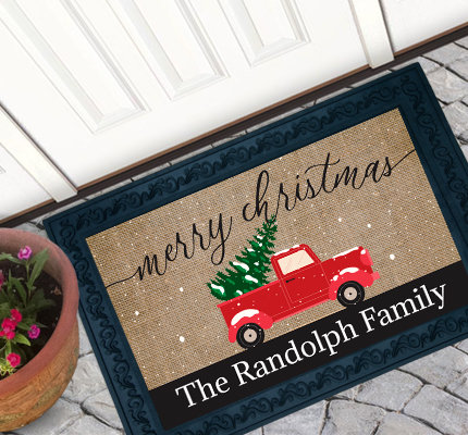 Personalized Holiday Door mats
